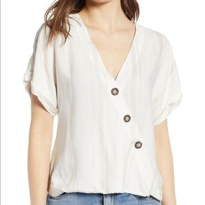 Socialite Button Wrap Top-XS